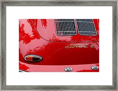 1964 Porsche 356 Carrera 2 Taillight Emblem Framed Print