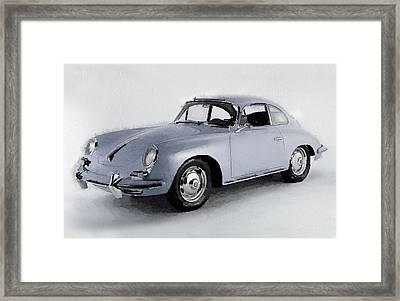 1964 Porsche 356b Watercolor Framed Print
