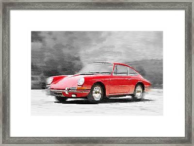 1964 Porsche 911 Watercolor Framed Print