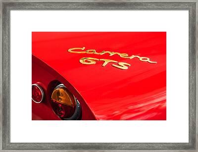 1964 Porsche Carrera Gts Taillight Emblem Framed Print by Jill Reger