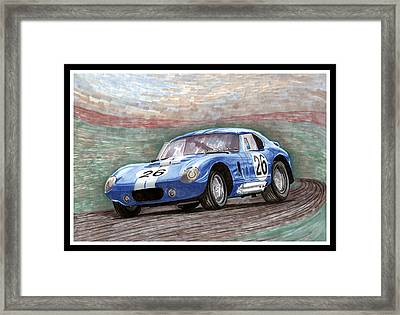 1964 Shelby Daytona Framed Print by Jack Pumphrey