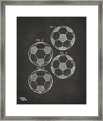 1964 Soccerball Patent Artwork - Gray Framed Print by Nikki Marie Smith