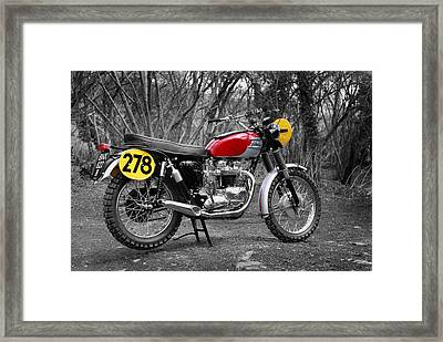 1964 Steve Mcqueen Isdt Framed Print by Mark Rogan