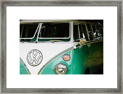 1964 Volkswagen Vw Samba 21 Window Bus Framed Print by Jill Reger