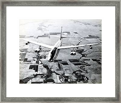 1965 Air Force B-47 In Flight Framed Print by Historic Image