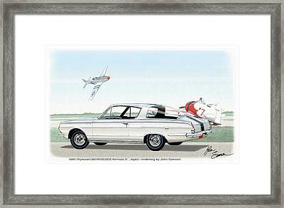 1965 Barracuda  Classic Plymouth Muscle Car Framed Print