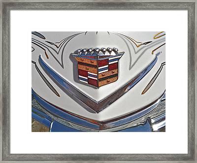1965 Cadillac Hood Emblem Framed Print by Bill Owen