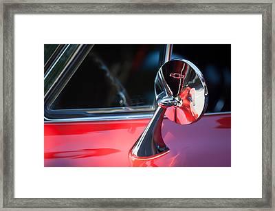 1965 Chevrolet Corvette Rear View Mirror Emblem Framed Print