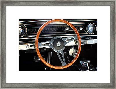 1965 Chevrolet Impala Ss Steering Wheel Framed Print by DJ Monteleone