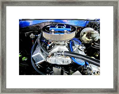 1965 Chevy Chevelle - Under The Hood Framed Print
