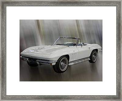 Framed Print featuring the photograph 1965 Chevy Corvette by B Wayne Mullins
