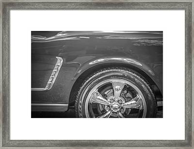 1965 Ford Mustang 2 Plus 2 Bw Framed Print by Rich Franco