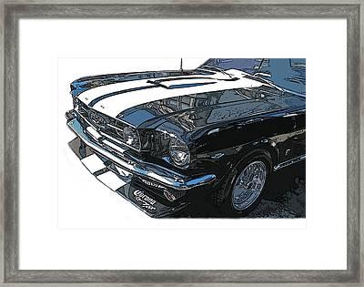 1965 Ford Mustang Gt Framed Print by Samuel Sheats