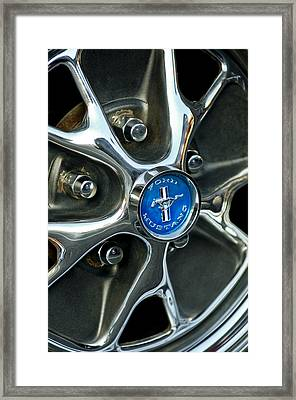 1965 Ford Mustang Wheel Rim Framed Print by Jill Reger