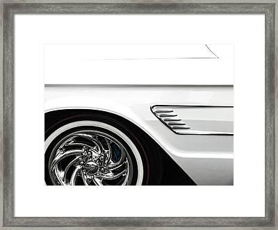1965 Ford Thunderbird Framed Print by Carol Leigh
