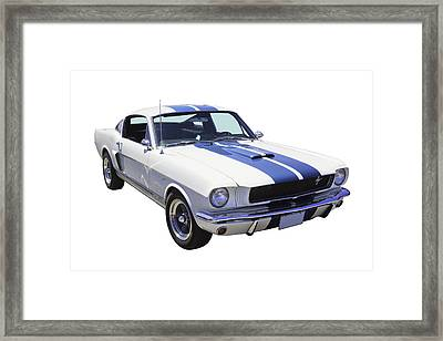 1965 Gt350 Mustang Muscle Car Framed Print