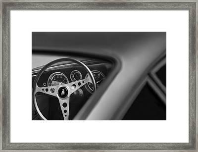 1965 Lamborghini 350 Gt Steering Wheel Emblem Framed Print
