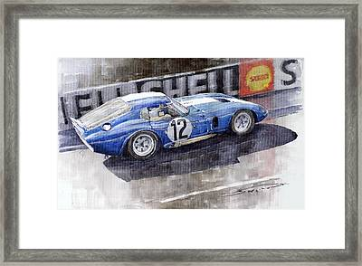 1965 Le Mans  Daytona Cobra Coupe  Framed Print