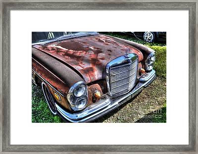 1965 Mercedes-benz Framed Print by Paul Mashburn