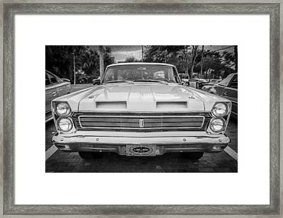 1965 Mercury Comet Cyclone Gt  Painted Bw Framed Print by Rich Franco