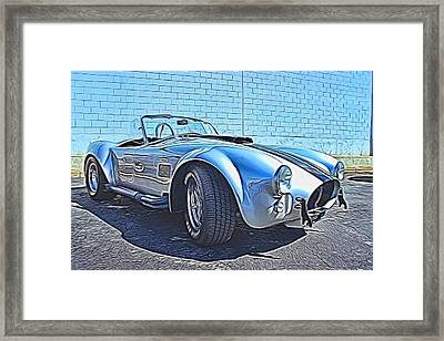 1965 Shelby Cobra- 1 Framed Print by Becca Buecher