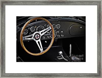 1965 Shelby Cobra Cockpit Framed Print