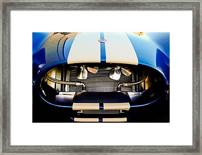 1965 Shelby Cobra Grille Framed Print by Jill Reger