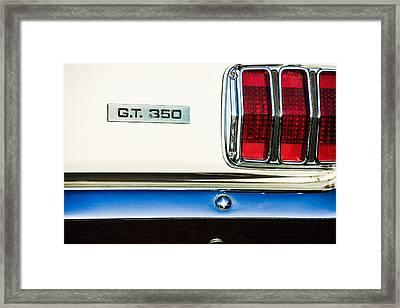 1965 Shelby Gt 350 Taillight Emblem Framed Print by Jill Reger