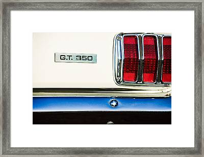1965 Shelby Gt 350 Taillight Emblem Framed Print
