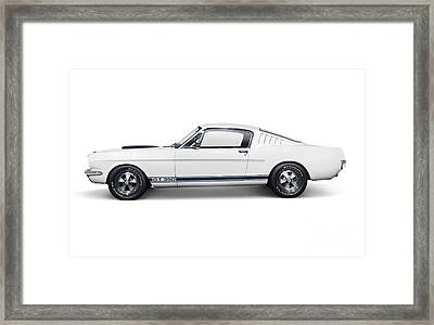 1965 Shelby Gt350 Mustang Retro Sports Car Framed Print