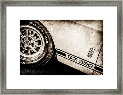 1965 Shelby Gt350 Side Emblem -0775s Framed Print by Jill Reger