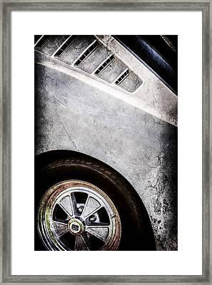 1965 Shelby Mustang Gt350 Emblem -0822ac Framed Print by Jill Reger