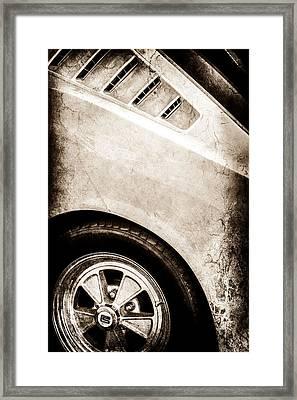 1965 Shelby Mustang Gt350 Emblem -0822s Framed Print by Jill Reger