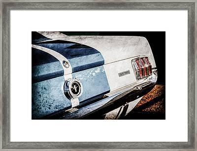 1965 Shelby Mustang Gt350 Taillight Emblem -0809ac Framed Print by Jill Reger