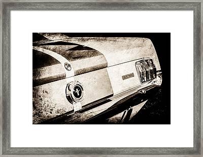 1965 Shelby Mustang Gt350 Taillight Emblem -0809s Framed Print by Jill Reger