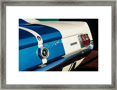 1965 Shelby Mustang Gt350 Taillight Emblem Framed Print by Jill Reger