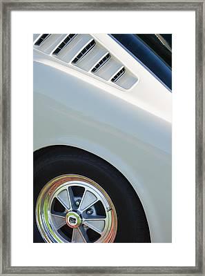 1965 Shelby Mustang Gt350 Wheel Emblem Framed Print by Jill Reger