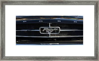 1965 Shelby Prototype Ford Mustang Hood Ornament Framed Print by Jill Reger