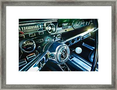 1965 Shelby Prototype Ford Mustang Steering Wheel Emblem 2 Framed Print by Jill Reger