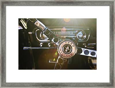 1965 Shelby Prototype Ford Mustang Steering Wheel Emblem Framed Print by Jill Reger