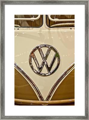 1965 Volkswagen Vw Samba Bus Emblem Framed Print