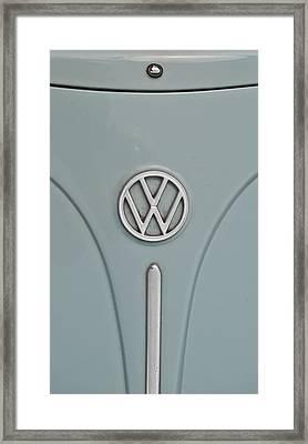 1965 Volkswagen Beetle Hood Emblem Framed Print