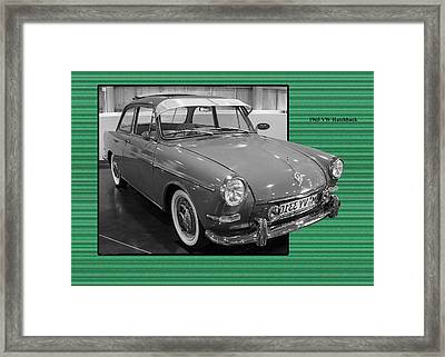 1965 Vw Notchback Framed Print