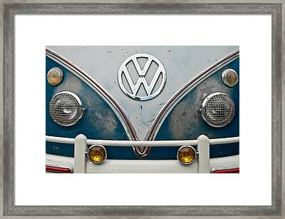 Framed Print featuring the photograph 1965 Vw Volkswagen Bus by Jani Freimann