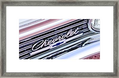 1966 Chevrolet Biscayne Front Grille Framed Print