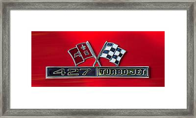 1966 Chevrolet Corvette 427 Turbo-jet Emblem Framed Print
