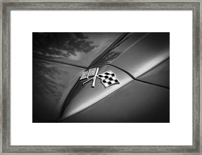 1966 Chevrolet Corvette Coupe Emblem  Bw Framed Print by Rich Franco