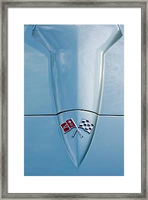 1966 Chevrolet Corvette Coupe Hood Emblem Framed Print by Jill Reger