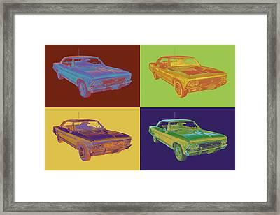 1966 Chevy Chevelle Ss 396 Car Pop Art Framed Print by Keith Webber Jr