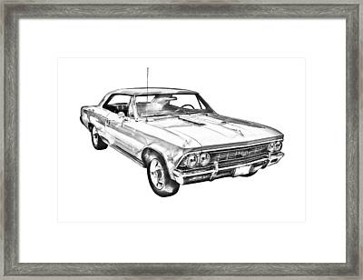 1966 Chevy Chevelle Ss 396 Illustration Framed Print by Keith Webber Jr